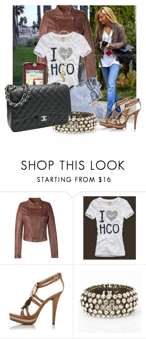 """""""Ashley Tisdale"""" by lisamay7 ❤ liked on Polyvore featuring Megan Park, Nation LTD, Saint Tropez, Hollister Co., Coast + Weber + Ahaus, Motorola, Potluck Paris, French Connection and Chanel"""