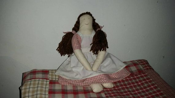 Rag doll made by Kwast Kwijt en quilts
