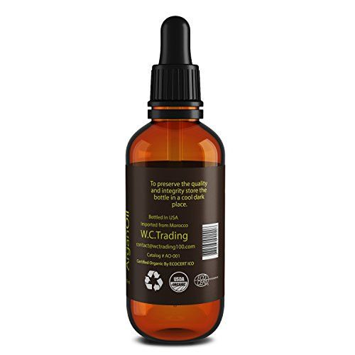 Anti aging oils stretch marks 100 Pure Argan Oil for Face, Hair, Skin and Nails - All Natural Product Can Be Used for Anti-aging, Stretch Marks, Scars, Split Ends and More