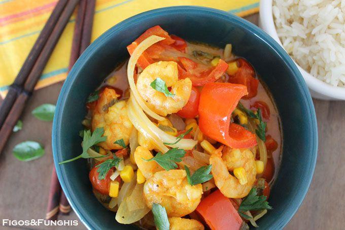 Camarão ao Curry Fácil