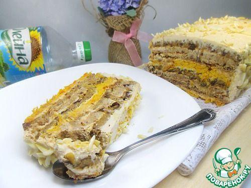 """Торт с кремом из ряженки """"Квартет"""" - кулинарный рецепт"""
