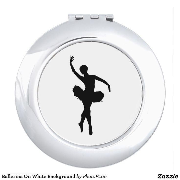 Ballerina On White Background