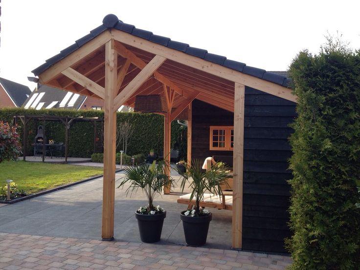 Vanuit de #kapschuur genieten van je tuin! Een sfeervolle plek waar je veel gebruik van zal maken..