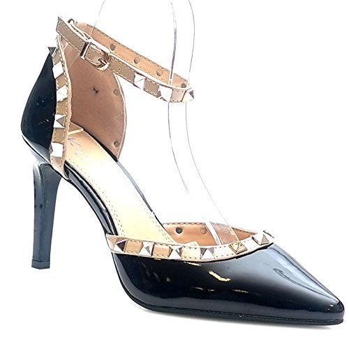 Kayla shoes Damen Elegante Design Stiletto Pumps WW032 Black 38 - http://on-line-kaufen.de/kayla-shoes/38-eu-kayla-shoes-damen-elegante-design-stiletto-19