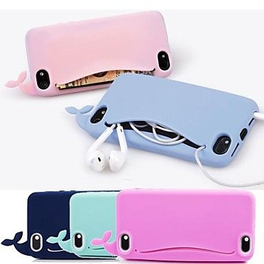 [XmasSale]df lovly silikone hval blød taske til iPhone 6 (assorterede farver) – DKK kr. 38