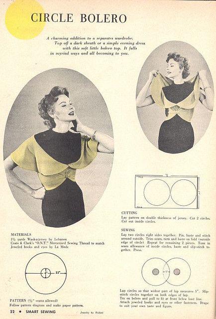 Vintage Circle Bolero - FREE Sewing Pattern and Tutorial - vma.
