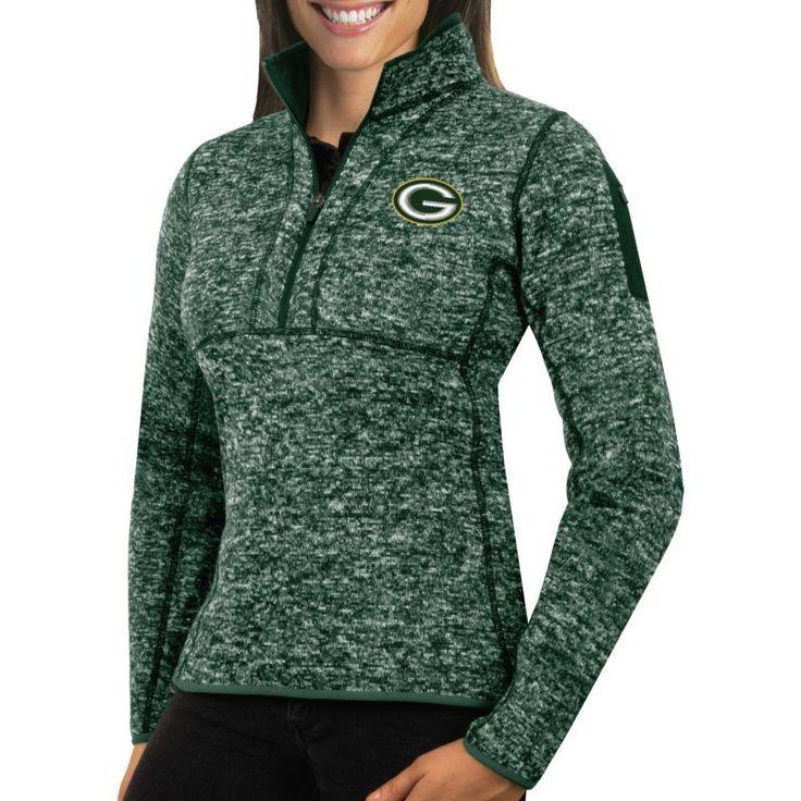 Antigua Women's Green Bay Fortune Green Pullover Jacket, Size: Medium, Team