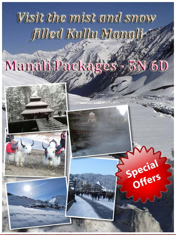 Kullu Manali lies in the Indian State, Himachal Pradesh. It attracts tourists from all over the world, with its snow covered mountains, climate and various adventure activities. TravMate Holidays offer you the most affordable and cheapest rates.