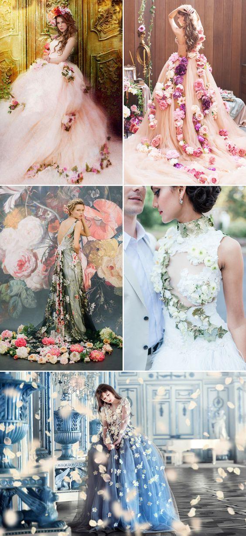Beautiful Wearable Fresh Flower Ideas / http://www.deerpearlflowers.com/floral-wedding-dresses/