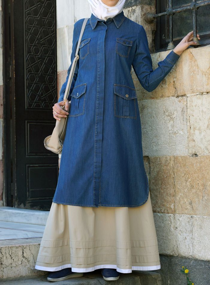 Can never have too much Denim- such a classy and modest look! From SHUKR Islamic Clothing.