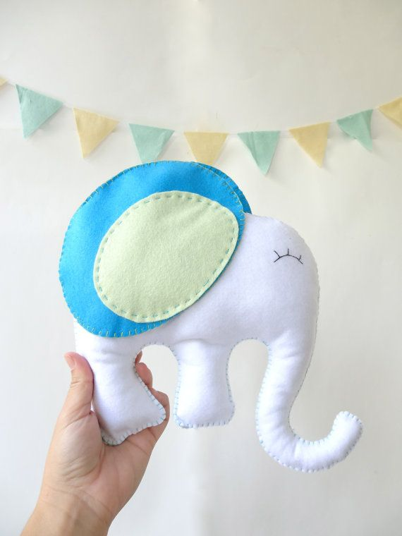 Elephant stuffed Animal Felt elephant stuffed by LaPetiteMelina