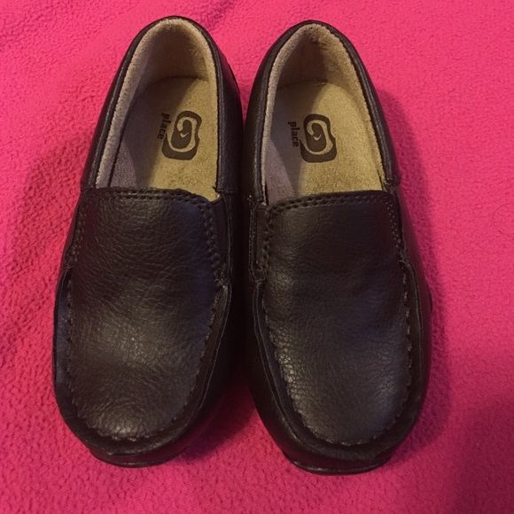 Black little boy dress shoes Children's Place.  Brand new never worn.  Size 7 toddlers. Children's Place Shoes Dress Shoes