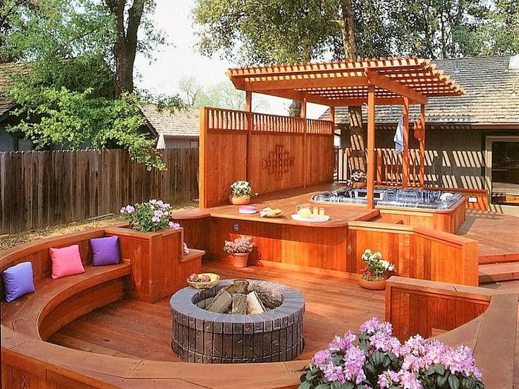 Hot Tub Pergola Decks Hot Tub Patio Hot Tub Backyard
