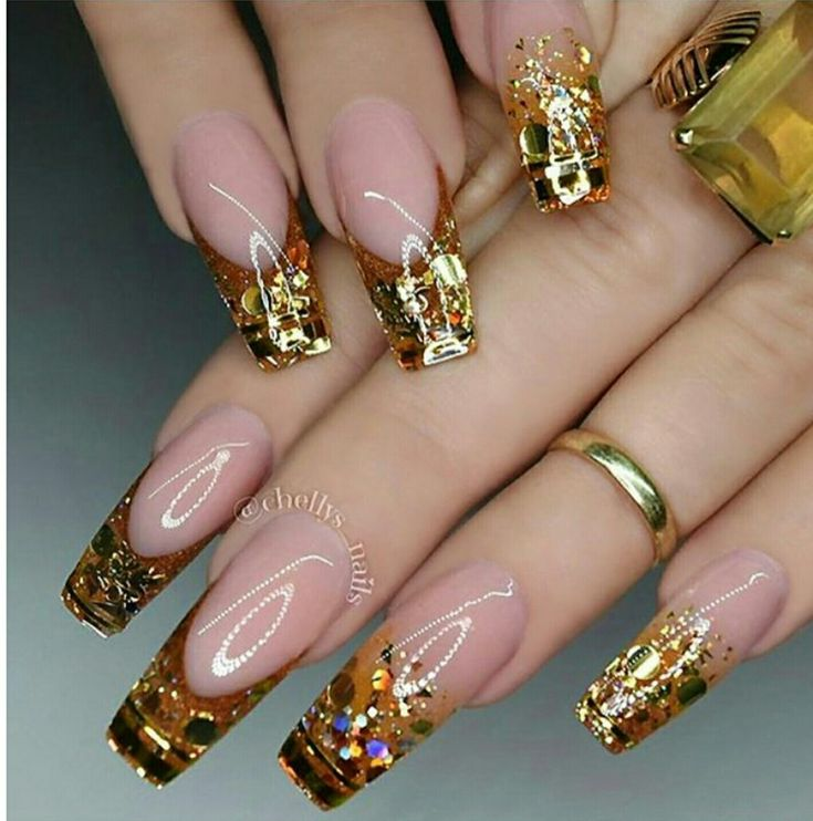 214 best nails gold images on pinterest nail nails design picture and nail design by prinsesfo Image collections