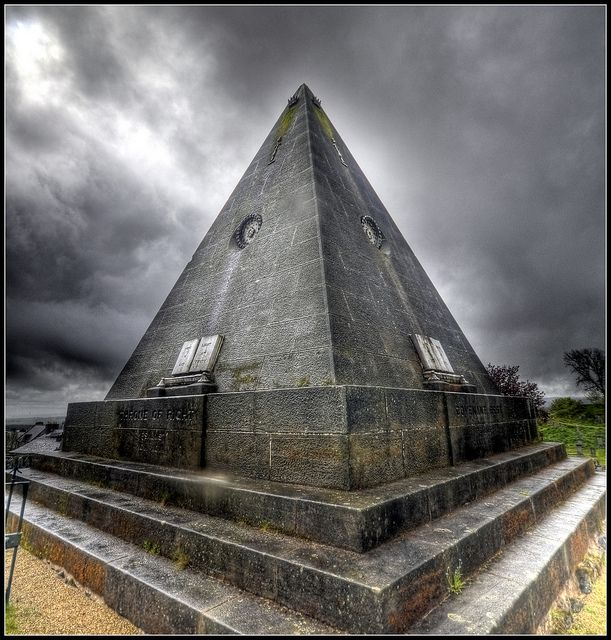 The Star Pyramid - Stirling - spent a lot of time looking at this as I worked Hogmany shows.