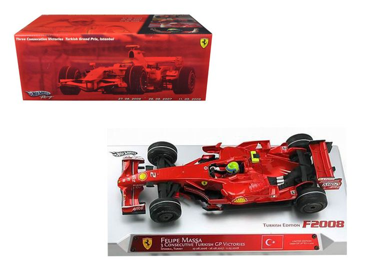 Felipe Massa Ferrari F1 Hat Trick Turkish GP Formula 1 1/18 Diecast Model Car by Hotwheels