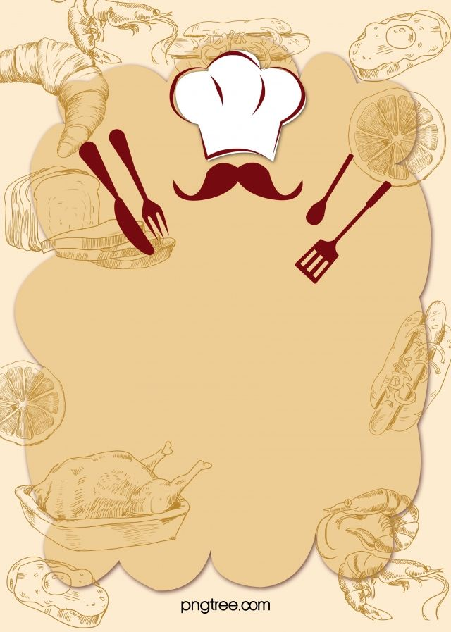 Cartoon Restaurant Chef Recruiting Design Poster Vector Background Food Poster Design Cartoon Chef Food Background Wallpapers