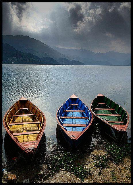 rowboats, nepal, 2005 in 2019   Cozy Home   Boat, Canoe boat, Boat art