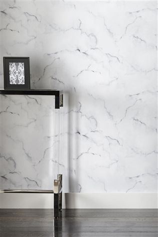 Buy White Marble Look Wallpaper from the Next UK online shop