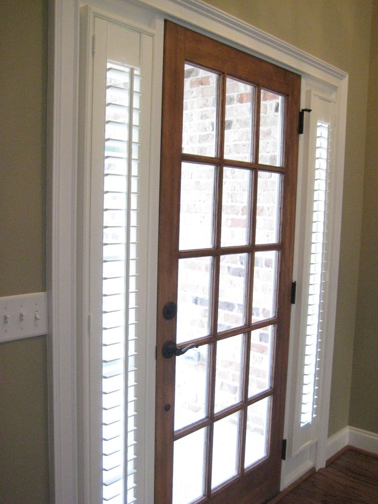Sidelight Blinds idea: Plantation Shutters can be custom made for those small sidelight windows by your front door. We do sidelight blinds! 419-381-2700