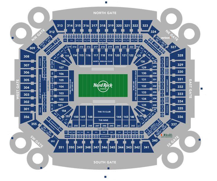 hard rock stadium seating chart miami hurricanes | miami