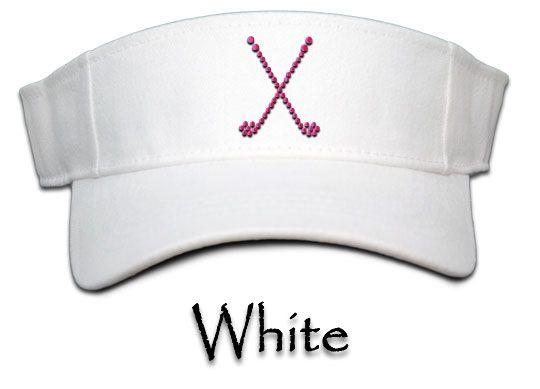 SlamGlam - Titania Golf Crossed Club Rhinestone Golf Visor. Swing with Bling with Titania Golf Accessories!  $24.98