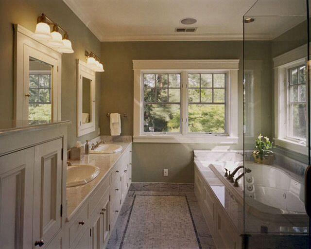 111 best images about bathroom remodel inspiration on for Small craftsman bathroom design