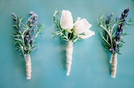 Sprig style buttonholes.