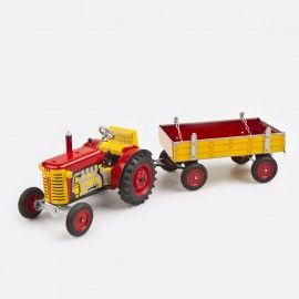 "Red ""Zetor"" Tractor with Trailer"