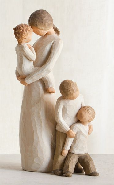 "Tenderness and Brothers Family Gathering by Willow Tree; the Mother and Son with the ""brothers"" would make a great combo for us!"