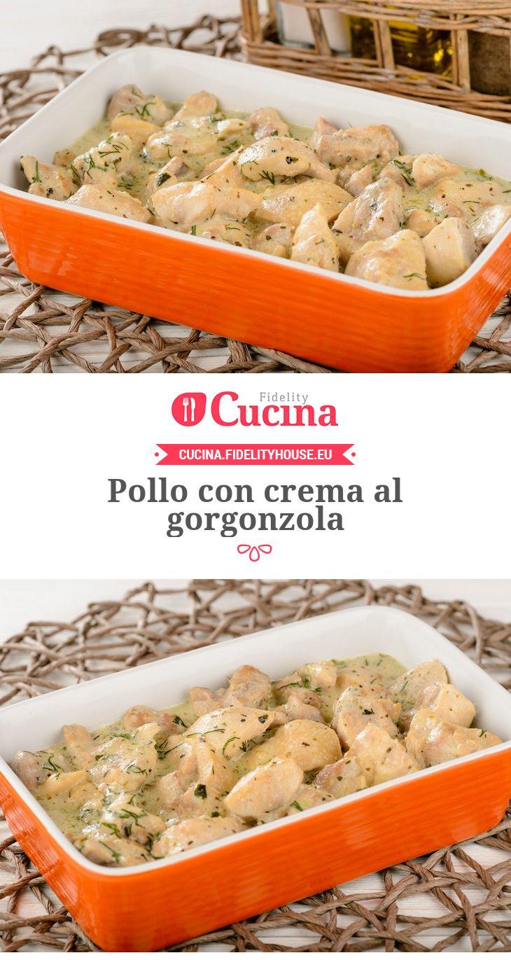 #Pollo con crema al #gorgonzola