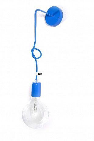Nowoczesne oświetlenie lampa loft kinkiet niebieski: http://www.sklep.imindesign.pl/product/lampa-loft-nowoczesny-kinkiet-kolorowe-kable-w-oplocie-niebieskim