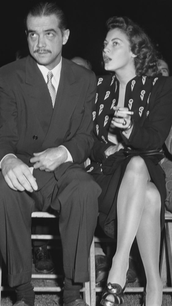 Ava Gardner: Billionaire playboy Howard Hughes pursued Ava Gardner, among many other women. Although Gardner famously refused to be another one of Hughes' trophy women, they remained close friends until his death in 1976. (Photo originally published in Ava Gardner: The Secret Conversations, courtesy of Simon & Schuster.)