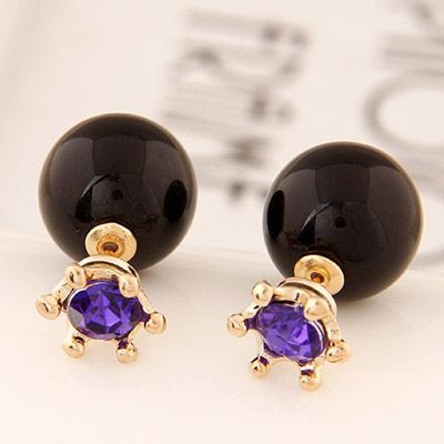 Double Pearl purple with black! https://www.facebook.com/pages/Collares-y-Accesorios-Dazzling-Doll/865787360105631?ref=hl