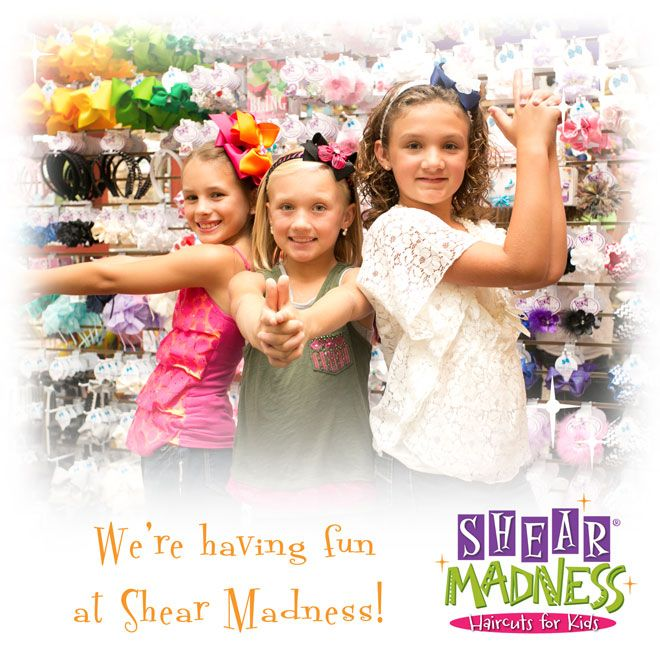 We're having fun at Shear Madness - a unique boutique and hair salon for kids! #shearmadnesskids shearmadnesskids.com