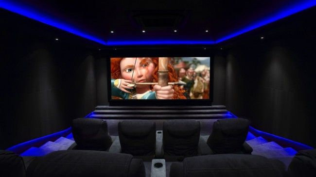 Bespoke home cinema room commissioned janes architectural there 39 s no - Home cinema salle dediee ...