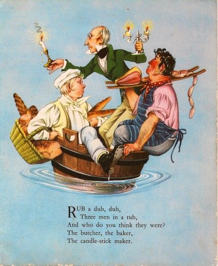 Rub a dub dub, three men in a tub!