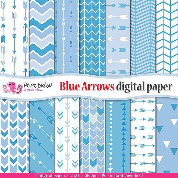 Le frecce blu carta digitale. Uso commerciale e di PolpoDesign