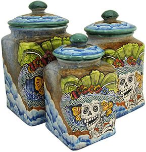Majolica pottery originated in the 16th century and is primarily distinguished by the milky-white glaze used after the first firing.  Majolica pottery is a diverse category of clay arts under which, Spanish-influenced Talavera and Italian Maiolica are sub-genres.  Mexican Majolica primarily differs from traditional Talavera in the art form and use of colors.  Traditional Talavera is known for its intricate pattern work whereas Majolica uses more free-form designs and artwork.