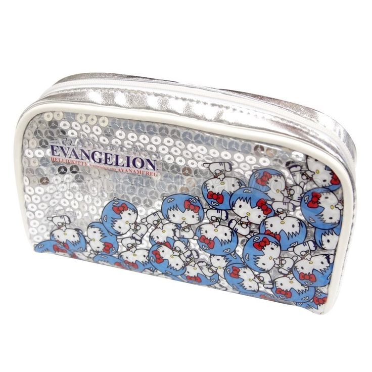 NEW  Sanrio Hello KItty x Evangelion Collaboration Pouch Rei Ayanami ct4