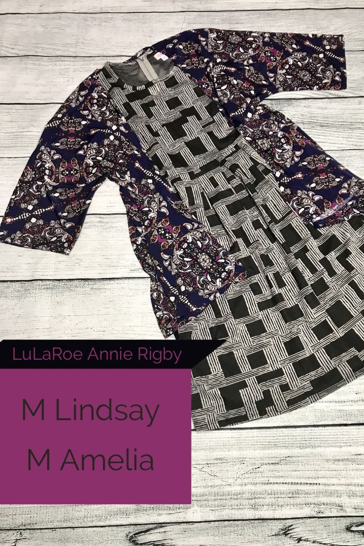 86994f1c10bbe A little more daring pattern mix! Floral with a black and gray geometric!