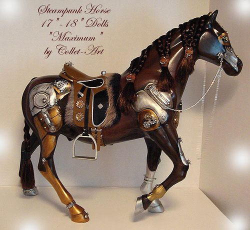 """https://flic.kr/p/9ED5tW   STEAMPUNK HORSE FOR EVANGELINE GHASTLY AND OTHER 17-18"""" DOLLS - OOAK BY COLLET-ART   STEAMPUNK HORSE FOR EVANGELINE GHASTLY AND OTHER 17-18"""" DOLLS - OOAK BY COLLET-ART"""