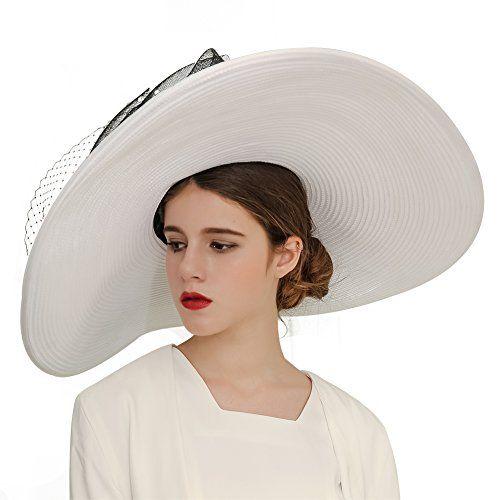 Kueeni Women Hats Church Hats Exaggeration Designer Fashion Lady Wide Brim  Hats 740a9821039