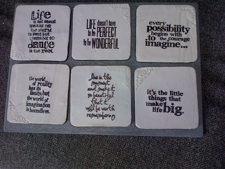My sculpy clay coasters!!! just love them