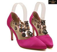 2015 новое поступление бренд мода сексуальная алмаз острым носом на высоких каблуках с мелкой тонкой рот женская обувь туфли на высоком каблуке бесплатная доставка