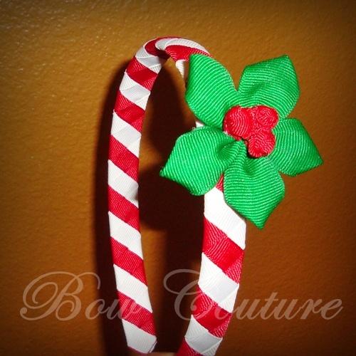 Candy Cane Holiday Woven Headband Set