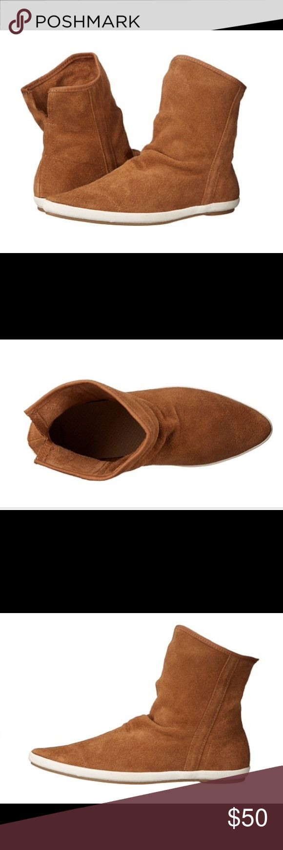 Sanuk Kat Sphynx Luxe Sanuk suede bootie in tobacco. Excellent condition. Sanuk Shoes Ankle Boots & Booties