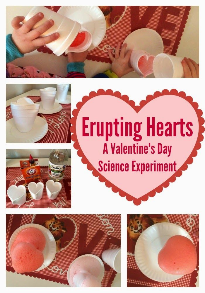 Valentineu0027s Day Science Experiment: Erupting Hearts
