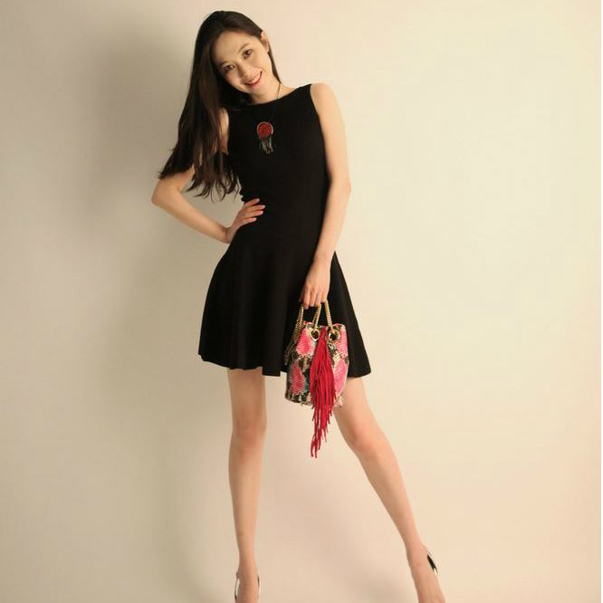 Korea feminine clothing Store [SOIR] ] Corrugated Flare One Piece / Size : FREE / Price : 36.28USD #korea #fashion #style #fashionshop #soir #feminine #special #lovely #luxury #dress #onepiece