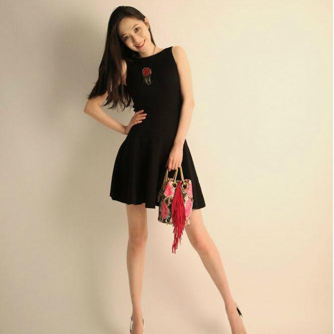 Korea feminine clothing Store [SOIR] ] Corrugated Flare One Piece / Size : FREE / Price : 36.28USD #korea #fashion #style #fashionshop #soir #feminine #special #lovely #luxury #dress #onepiece